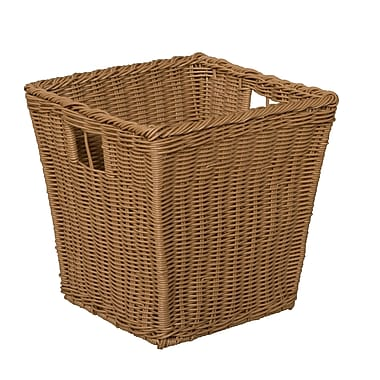 Wood Designs Medium Size-10''H x 10''W x 10''D Plastic Wicker Basket Set of 4 (71904)