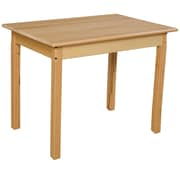 "Wood Designs 24''D x 36''W x 17""H Birch Hardwood Tables, 16''H Hardwood Legs (82316)"