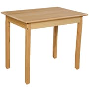 "Wood Designs 24''D x 36''W x 27""H Birch Hardwood Tables, Hardwood Legs (82326)"