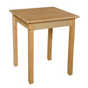 Wood Designs 24'' Square Birch Hardwood Tables 29''H Hardwood Legs (82429)