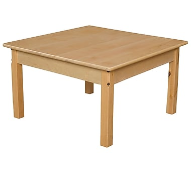 Wood Designs 30'' Square Birch Hardwood Tables 16''H Hardwood Legs (83316)