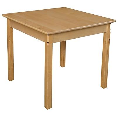 Wood Designs 30'' Square Birch Hardwood Tables 26''H Hardwood Legs (83326)
