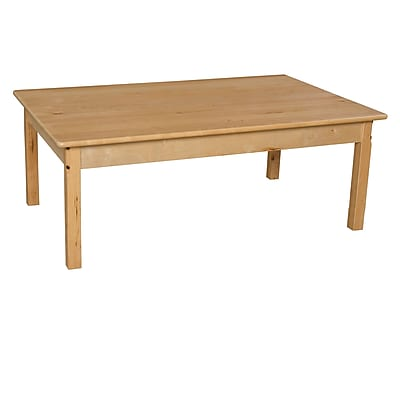Wood Designs 30''D x 48''W Birch Hardwood Tables 16''H Hardwood Legs (83416)