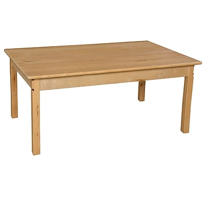 Wood Designs 30''D x 48''W Birch Hardwood Tables 26''H Hardwood Legs (83426)