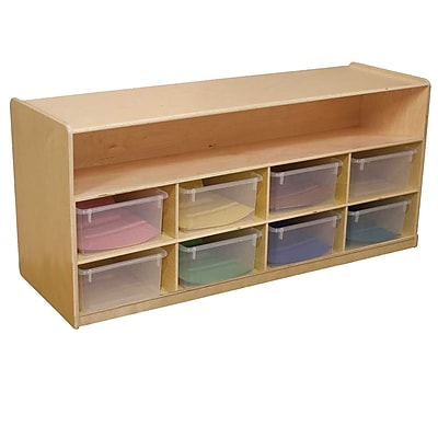 Wood Designs 22.5''H x 48''W x 15''D Low Cubby Storage with Translucent Trays (99609CT)
