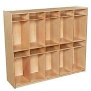 Wood Designs 49''H x 58''W x 15''D Space-Saving Ten Section Locker (990314)