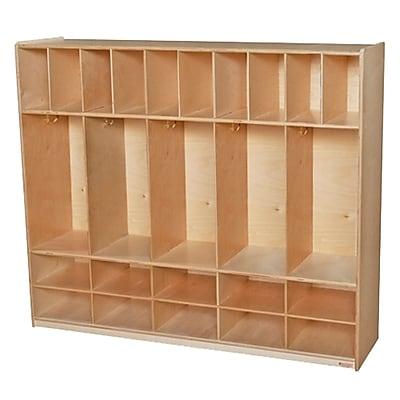 Wood Designs 49''H x 58''W x 15''D Five Section Locker with Cubbies (990316)