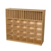 Wood Designs 42.44''H x 48''W x 15''D Multi Storage with Assorted Trays (990326AT)