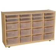 Wood Designs 30''H x 48''W x 15''D Mobile Multi Bin Storage with Translucent Trays(990330CT)