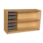 Wood Designs 30''H x 48''W x 15''D Mobile Shelf Storage with Translucent Trays (990331CT)