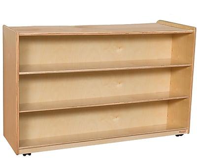 Wood Designs 30''H x 48''W x 15''D Mobile Multi-Shelf Storage (990332)