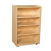 "Wood Designs 38""H x 24""W x 15""D Mobile Shelf Storage (990333)"