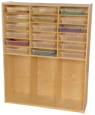 Wood Designs 59.5''H x 48''W x 15''D Storage Shelf with Translucent Trays(990343CT)