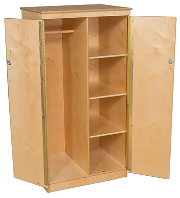 Wood Designs 61''H x 31''W x 26''D Mobile Teacher's Cabinet (990525)