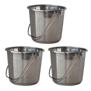 AmeriHome Small 1.32 gal. Stainless Steel Bucket 3 Piece Set (300328)