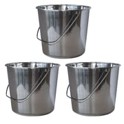 AmeriHome Medium 2.37 gal. Stainless Steel Bucket 3 Piece Set (300329)