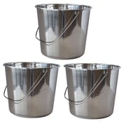 AmeriHome Large 4.22 gal. Stainless Steel Bucket 3 Piece Set (300330)