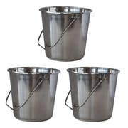 AmeriHome Xlarge  5.28 gal. Stainless Steel Bucket 3 Piece Set (300331)