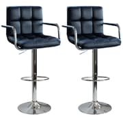 "AmeriHome 32"" Modern Padded Bar Stool Black 2 Piece Set (300338)"