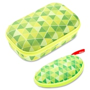 ZIPIT Colorz Carrying Case, Green Triangles