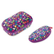 ZIPIT Colorz Carrying Case Purple Triangles