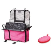 """ZIPIT Carrying Case Messenger for 14"""" Notebook, Tablet, iPad, Pink & Gray"""