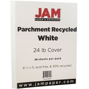 """JAM Paper® Parchment Paper - 8.5"""" x 11"""" - 24lb White Recycled - 50/pack"""