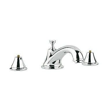 Grohe Seabury Deck Mount Roman Tub Faucet Trim Only, Less Handles; Brushed Nickel