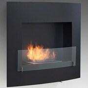 Eco-Feu Wynn Wall Mount Ethanol Fireplace; Matte Black