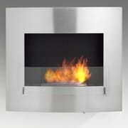 Eco-Feu Wynn Wall Mount Ethanol Fireplace; Stainless Steel