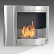 Eco-Feu Olympia Wall Mount Ethanol Fireplace; Stainless Steel