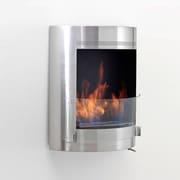 Eco-Feu Malibu Wall Mount Ethanol Fireplace; Stainless Steel