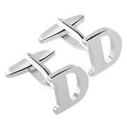 "Zodaca Men's Initial ""D"" Alphabet Letter Silver Copper Cufflinks Fathers Day Wedding Birthday Party (2128908)"