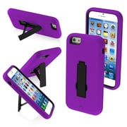 Insten Symbiosis Designed Stand Cover Hybrid Hard Shockproof Case Stand For iPhone 6 6S - Black/Purple (1934341)