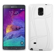 Insten Basketball Rubber Cover Case For Samsung Galaxy Note 4 - White (1999448)