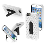 "Insten Diamonds Designed Black/White Symbiosis Stand Hybrid Hard Shockproof Case Cover For iPhone 6S 6 4.7"" (1934346)"