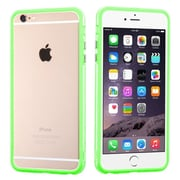"""Insten Rubber Gel Frame Bumper Case Cover for iPhone 6s Plus / 6 Plus 5.5"""" - Green/Clear (1951627)"""