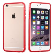 """Insten Rubber Gel Frame Bumper Case Cover for iPhone 6s Plus / 6 Plus 5.5"""" - Red/Clear (1951647)"""