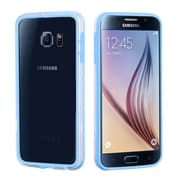 Insten Bumper Case with Shock-proof Trim For Samsung Galaxy S6 - Baby Blue/Transparent Clear (2092063)