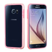 Insten Bumper Case with Shock-proof Trim For Samsung Galaxy S6 - Pink/Transparent Clear (2092064)