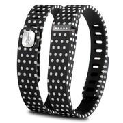 Zodaca 3D TPU Wristband Replacement Large Bracelet Wireless Activity Tracker Clasp for Fitbit Flex Black Polka dot (2127070)