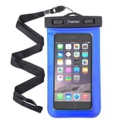 Insten Waterproof Bag Carrying Case Pouch (6.5 x 3.9 inches) with Lanyard Armband Universal - Blue (2130254)