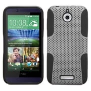 Insten Hard Hybrid Rugged Shockproof Rubber Coated Silicone Case For HTC Desire 510 - Gray/Black (2002859)