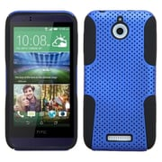 Insten Hard Hybrid Rugged Shockproof Rubberized Silicone Cover Case For HTC Desire 510 - Blue/Black (2002861)