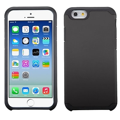 Insten Hard Silicone Hybrid Rugged Shockproof Rubber Case Cover Back Shell Skin For Apple iPhone 6 - Black (2032786)