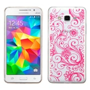 Insten Four-leaf Clover TPU Cover Case For Samsung Galaxy Grand Prime - Hot Pink (2162996)