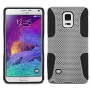 Insten Astronoot Hard Hybrid Rugged Shockproof Silicone Cover Case For Samsung Galaxy Note 4 - Gray/Black (1984674)