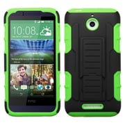 Insten Hard Hybrid Rugged Shockproof Cover Case with Stand For HTC Desire 510 - Green/Black (2011271)