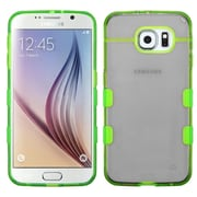 Insten Gel Case For Samsung Galaxy S6 - Black/Green (2107741)