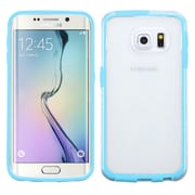 Insten Gel Case For Samsung Galaxy S6 Edge - Clear/Blue (2119557)